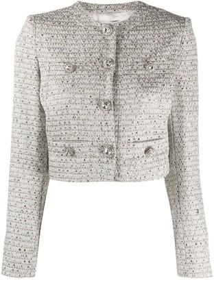 Alessandra Rich Cropped Long Sleeve Jacket