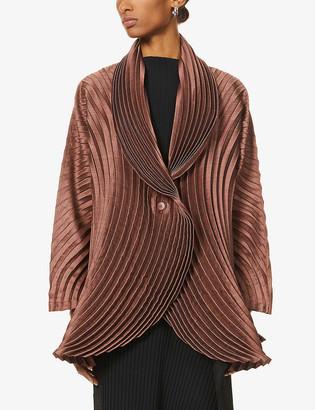 Issey Miyake Pleated woven jacket
