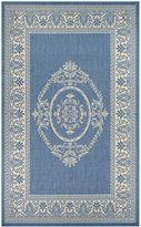 Couristan Recife Antique Medallion Indoor/Outdoor Rug in Blue
