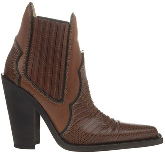 DSQUARED2 Western Woman Ankle Boot In Brown Leather