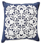 Southern Living Floral Medallion-Embroidered Square Pillow