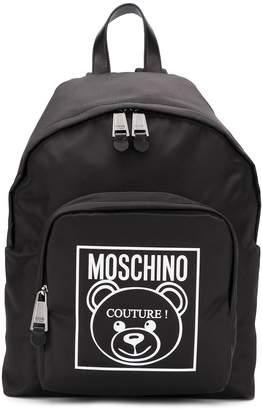 Moschino logo detail backpack