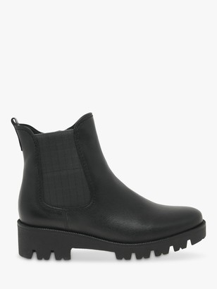 Gabor Newport Wide Fit Leather Chelsea Boots, Black