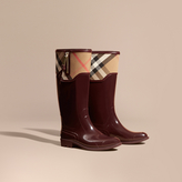 Burberry Leather and House Check Rain Boots