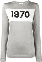 Bella Freud 1970 silver knitted jumper - women - Nylon/Viscose/Metallic Fibre - XS