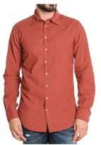 DSQUARED2 Men's Red Cotton Shirt.