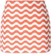 Au Jour Le Jour wave print skirt - women - Acetate/Cupro/Cotton/Linen/Flax - XS