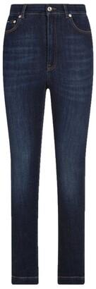 Dolce & Gabbana Logo-Plaque Skinny Jeans