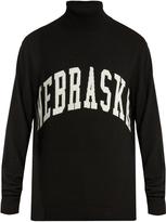 Off-White Nebraska-intarsia roll-neck sweater