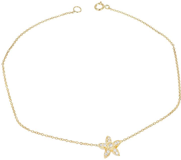 Ariana Rabbani 14K Diamond Starfish Bracelet