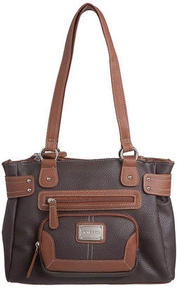 STONE AND CO Stone And Co Pebble Vinyl Satchel