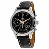 Longines Heritage L27504560 Men's Black Leather Automatic Chronograph Watch