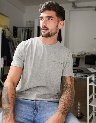 Jack and Jones Originals t-shirt with chest logo in gray