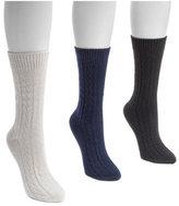 Muk Luks Women's Cable Boot Socks