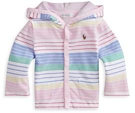 Ralph Lauren Girls' Knit Striped Jacket - Baby