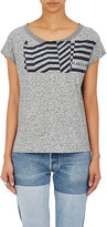 "Golden Goose Deluxe Brand Women's ""Flag/GGDB"" Jersey T-Shirt-GREY"