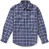 Brooks Brothers Little/Big Boys 4-20 Plaid Flannel Long-Sleeve Shirt