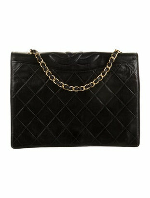 Chanel Vintage Quilted Lambskin Flap Bag Black