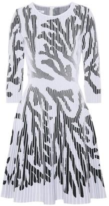 Cotton-blend knit dress