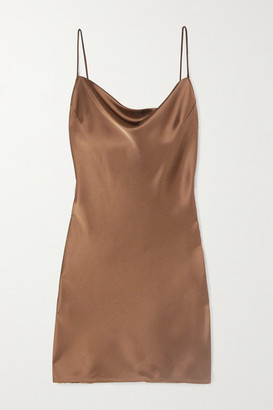 Nanushka Lotti Draped Satin Mini Dress - Brown