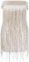 ATTICO The strapless embellished mini dress