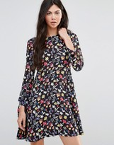 Yumi Scribble Flower Swing Dress
