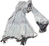 Chloé Grey Silk Scarf
