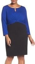 Ellen Tracy Plus Size Women's Colorblock Sheath Dress