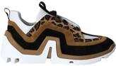 Pierre Hardy vibe paneled sneakers leopard