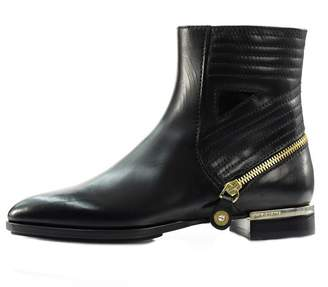 Luis Onofre Black Leather Bootie