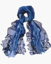 Chico's Ombre Lace-Trim Scarf