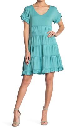 Angie V-Neck Tiered Dress