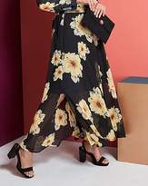 Fashion World Floral Print Double Split Maxi Skirt