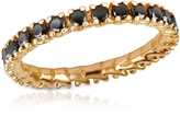 Forzieri Black Diamond 18K Yellow Gold Eternity Band
