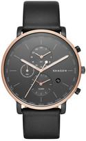 Skagen Men's Hagen Chronograph Leather Strap Watch
