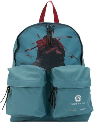Undercover Graphic Print Zipped Backpack