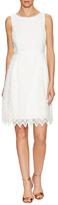 Donna Ricco Sleeveless Zig Zag Lace Dress