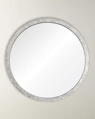 Mother of Pearl Mirror Image Round Mirror
