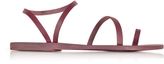 Ancient Greek Sandals Apli Eleftheria Raspberry Leather Sandal