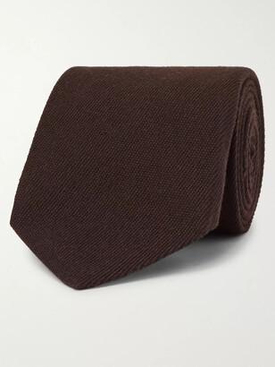 Tom Ford 8cm Melange Cashmere And Silk-Blend Tie