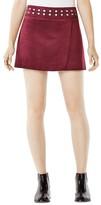 BCBGMAXAZRIA Dorthy Faux Suede Mini Skirt