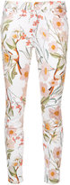 7 For All Mankind floral print skinny jeans - women - Cotton/Spandex/Elastane - 24