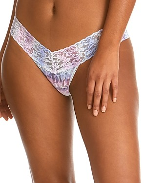 Hanky Panky Tied N True Tie-Dye Signature Lace Low-Rise Thong