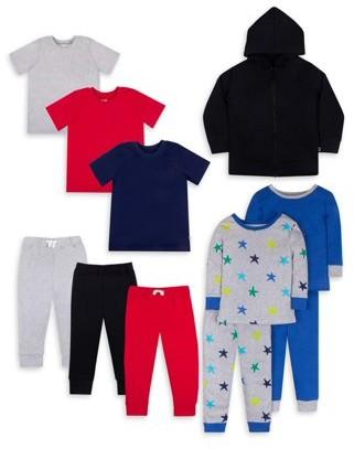 Little Star Organic Pure Organic True Brights Kids Pack, 11 Pc set (Baby Boys & Toddler Boys)