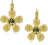 "Kate Spade Marguerite"" Flower -Tone Lever Back Earrings"