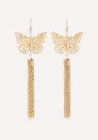 Bebe Butterfly Tassel Earrings