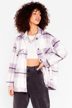 Nasty Gal Womens Meet You At the Checkout Oversized Jacket - Purple - S