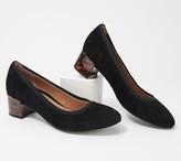 Vionic Suede Block Heel Pumps - Natalie