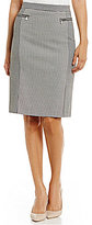 Jones New York Check Suiting Pencil Skirt