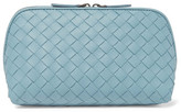 Bottega Veneta Intrecciato Leather Cosmetics Case - Sky blue